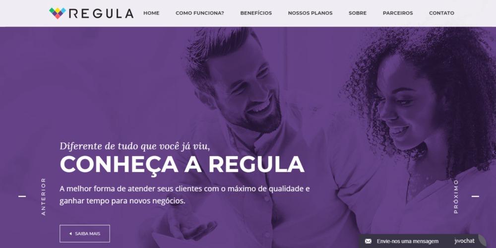 Página principal - site Regula