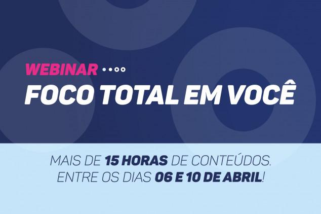 Seguro Total promove maratona de webinars entre os dias 06 e 10 de abril