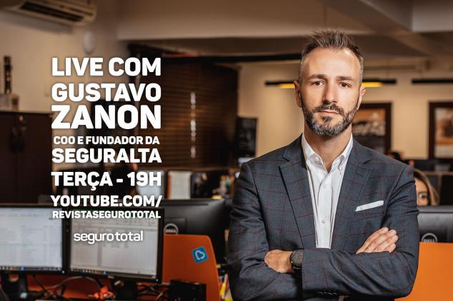 Gustano Zanon, fundador da Seguralta, participa de live da Seguro Total a partir das 19h