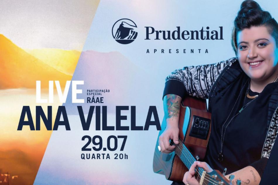 Prudential do Brasil patrocina primeira live da cantora Ana Vilela